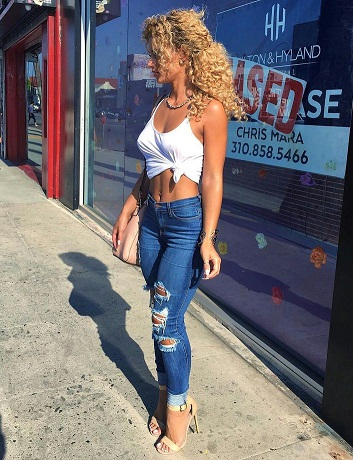 High Waist Ripped Women Denim Jean