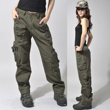 Hiking Wide Leg Cargo Women Jean