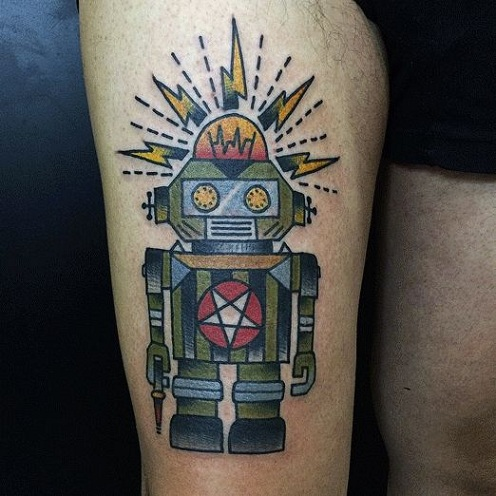 Imaginative Robot Tattoo Designs