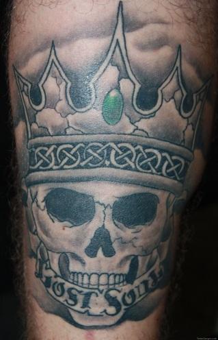 Impressive Queen Skull Tattoo Design