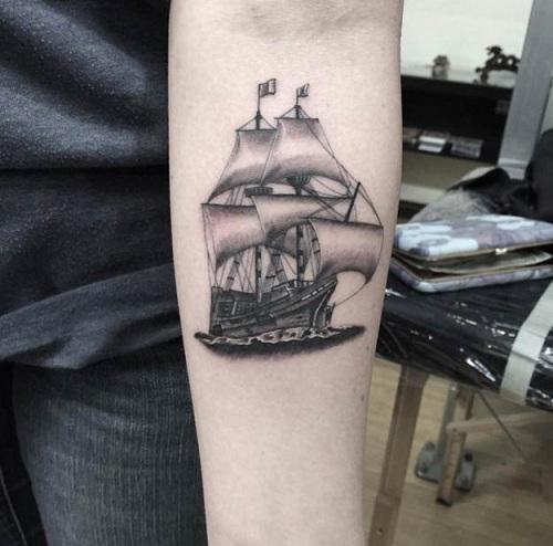 Japanese Ship Tattoo