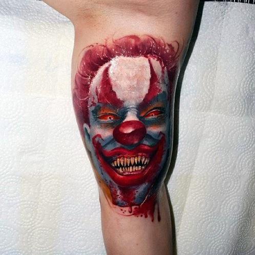 Joker Type Scary Tattoo