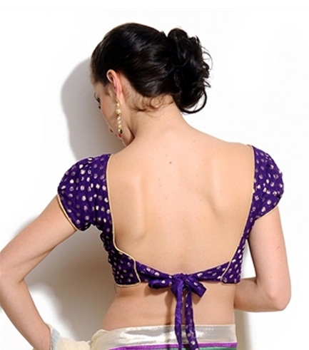 Knot Back Neck Blouse for Saree: