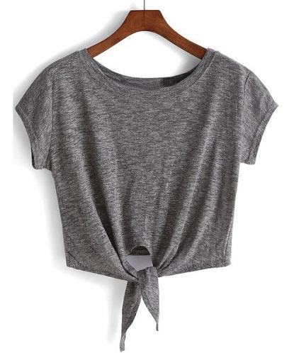 Knot Crop T-Shirt for Women