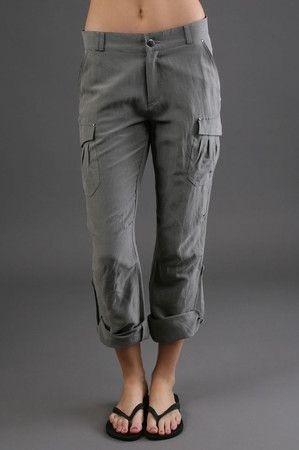 Linen Women Cargo Pant