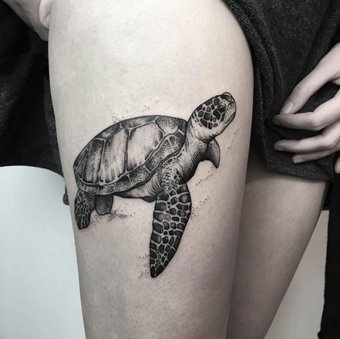 Magnificent Turtle Tattoo