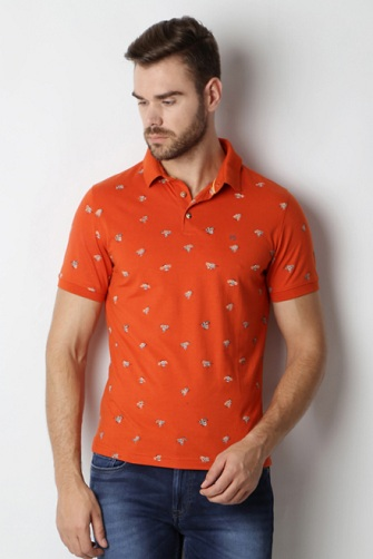 Majestic Orange T-Shirt for Men