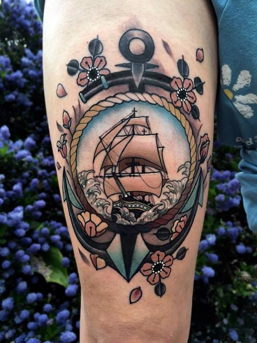 Majestic Ship Tattoo