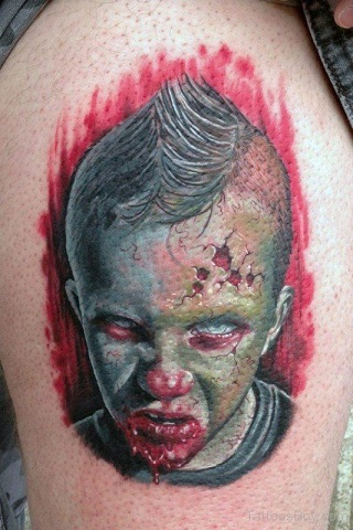 Marvellous Zombie Tattoo Design