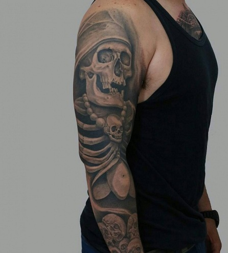 Men's Special Scary Tattoo