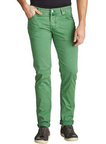 Men's Slim fit Green Jeans