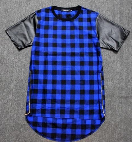 Men's Plaid Short T-Shirt