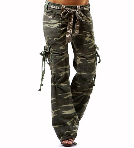 Military Design Inspired Women Cargo Jean