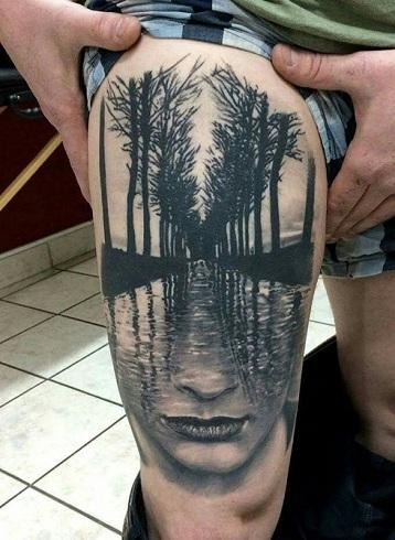 Nature Mix Surrealism Tattoo