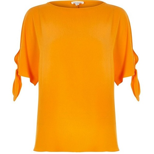 Orange Ravishing T-Shirt for Girls