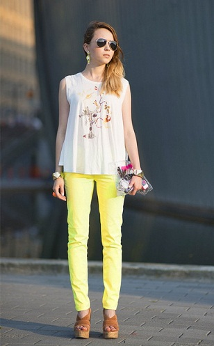 Party Wear Colored Jeans: