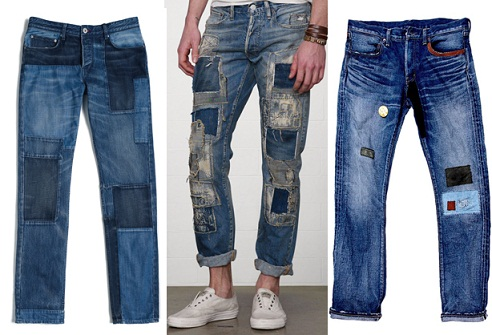 Patch Work Denim Jean for Men