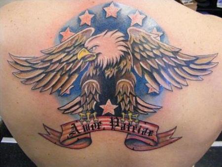 Patriotic banner tattoo
