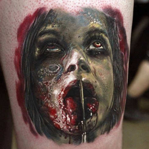 Personalized Scary Tattoo