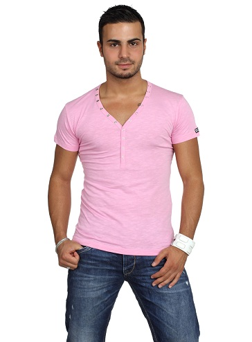 Pink T-Shirt with Dazzling Visual
