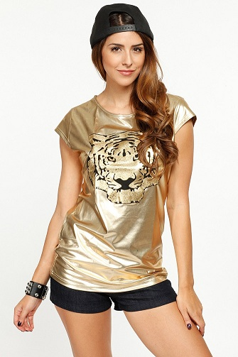 Powerful Gold T-Shirts for Girls