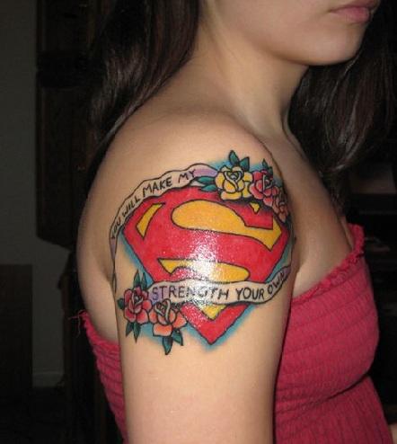 Prom Night Superhero Tattoo