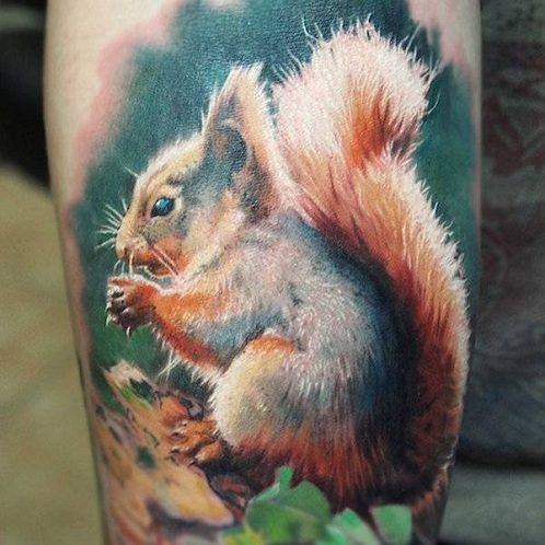 tattoo squirrel