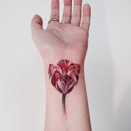 917c19e9f 9 Best Tulip Tattoos In Simple and Small Designs | Styles At LIfe