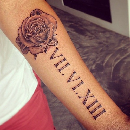 Remarkable Roman Numeral Tattoo Design