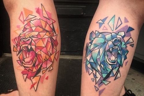 Roaring Sibling Tattoos:
