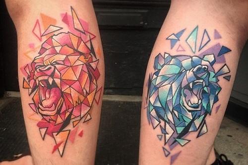 Roaring Sibling Tattoos: