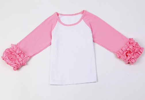 Ruffle Sleeves Baby T-Shirts