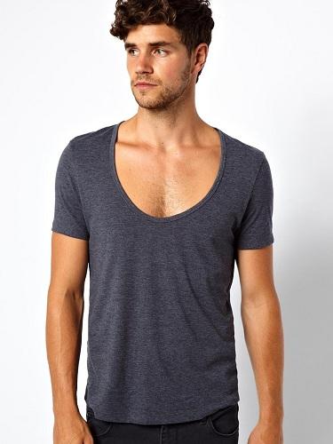 Scoop Neck Men's T Shirts