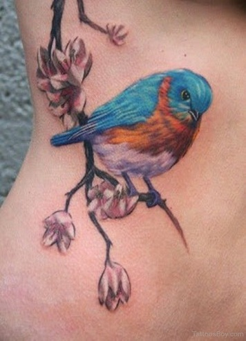 Seated Sparrow Tattoo