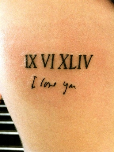 Sensational Roman numeral Tattoo Design