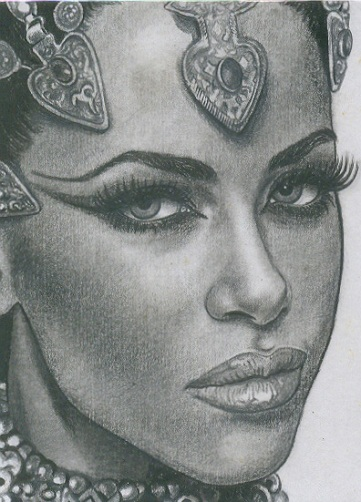 Sensual Black Queen Tattoo Design