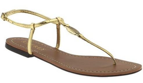 Simple Gold Sandals