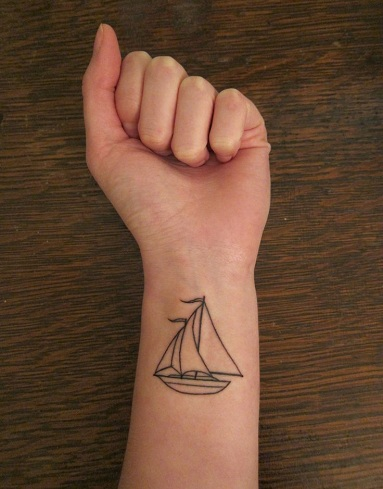 Simple Ship Tattoo