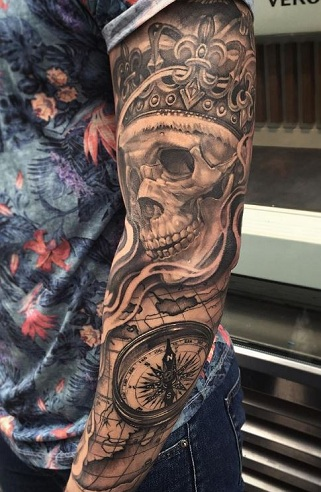 Skeleton King Tattoo