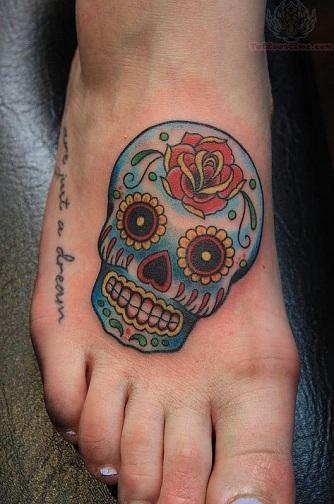 Skeleton Tattoo on Foot