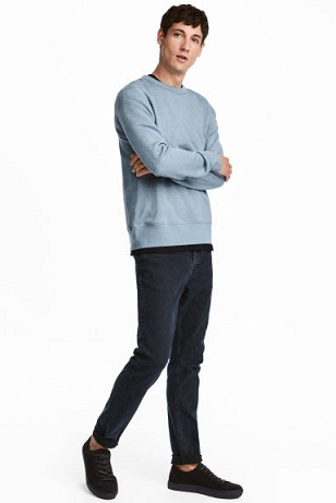 Skinny Plain denim jean for Men