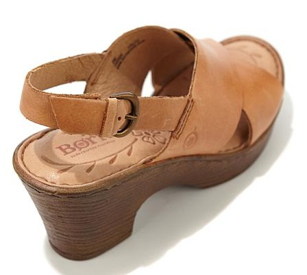 Sling Back Brown Sandals