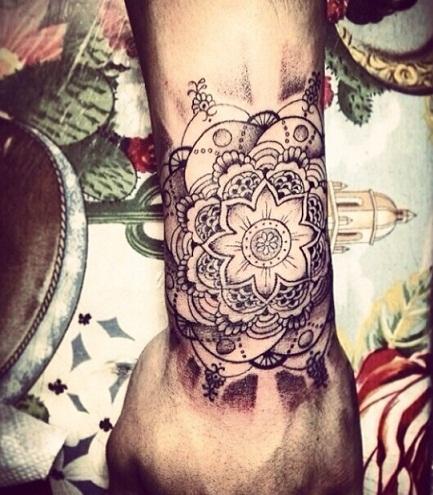 Sparkling Flower Zayn Tattoo Designs