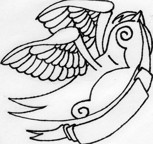 Sparrow Tattoo Outline