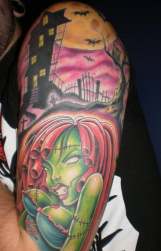 Spectacular Zombie Tattoo Sleeve Design