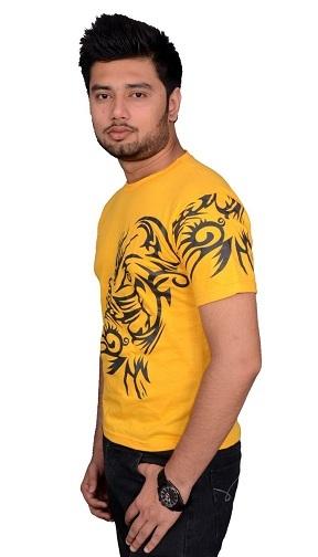Splendid Yellow T-Shirt for Men
