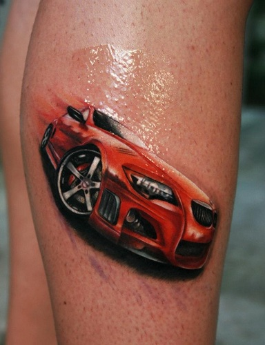 Sports Car Tattoo