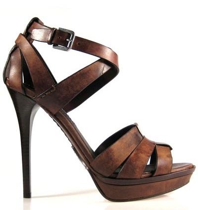 Stiletto Brown Sandals