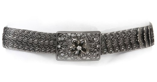 Stone Studded Stretch Belt