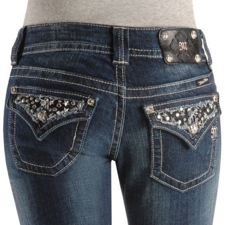 Stone Studded Denim Jeans For Women